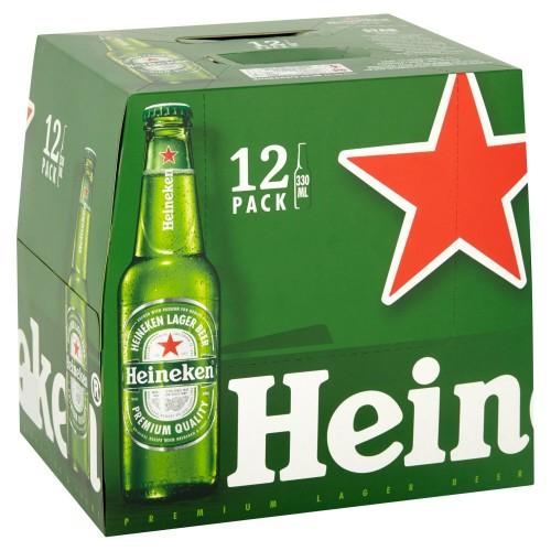 Heineken Non Returnable Bottle 330ml [Case Includes Twin 12 Pack]