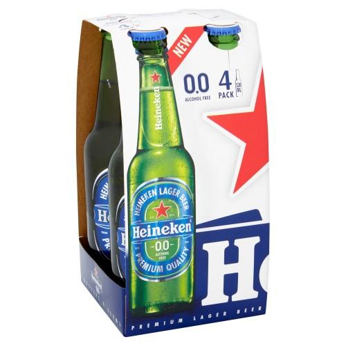 Heineken 0.0% Bottles 330ml 6x4 Pack [Case of 24]