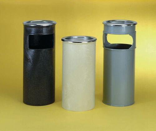 Combined Ash Stand & Litter Bin Black