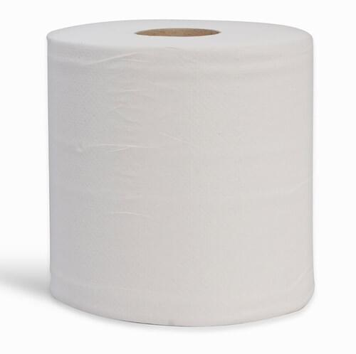 Essential Embossed Centrefeed 2-Ply White 150m (Case of 6)