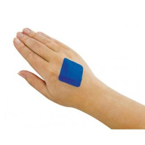 Detectable Square Plasters Blue (Pack of 100)