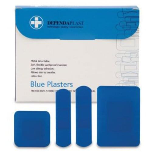 Detectable Plasters Assorted Blue (Pack of 100)