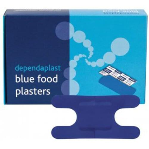 Detectable Knuckle Plasters Blue (Pack of 50)