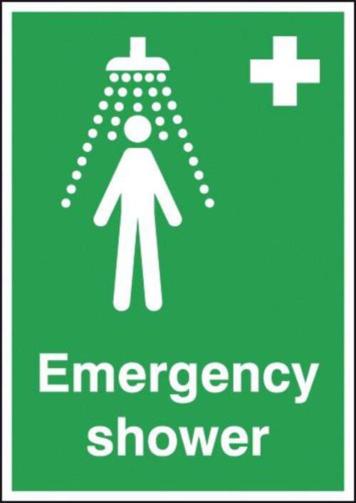 Emergency Shower 210x148mm 1.2mm Rigid Plastic