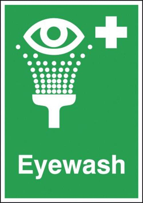 Eyewash 100x250mm Self Adhesive Vinyl