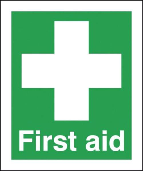 First Aid 420x297mm Self Adhesive Vinyl