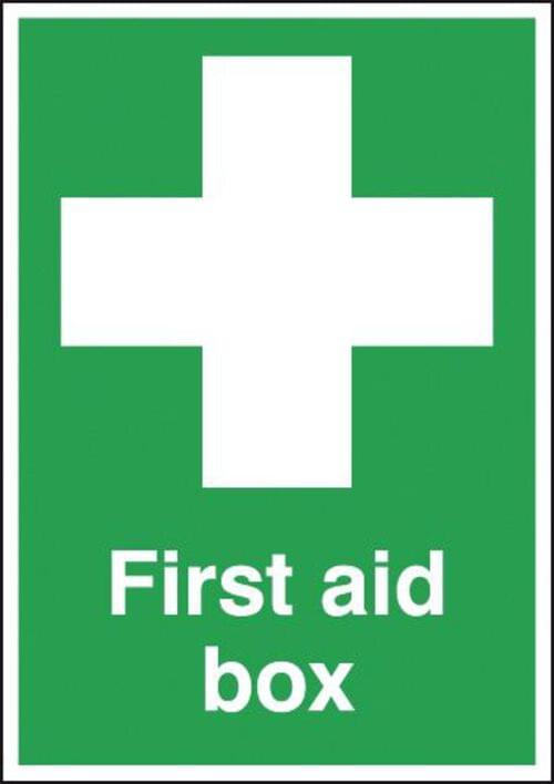 First Aid Box 70x50mm 1.2mm Rigid Plastic