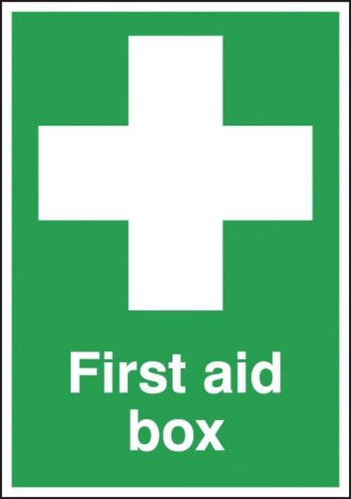 First Aid Box 210x148mm 1.2mm Rigid Plastic