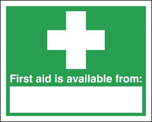 First Aid Is Available From 300x500mm 1.2mm Rigid Plastic