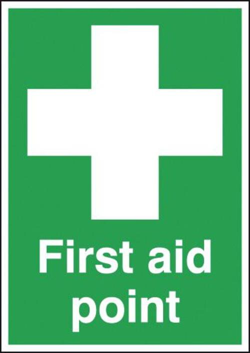 First Aid Point 420x297mm 1.2mm Rigid Plastic