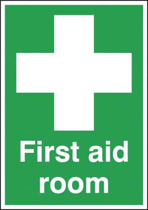 First Aid Room 420x297mm 1.2mm Rigid Plastic
