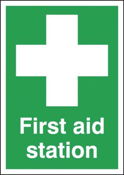 First Aid Station 420x297mm 1.2mm Rigid Plastic
