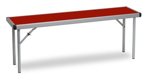 Fast Fold Folding Bench L1830mm x W305mm Red