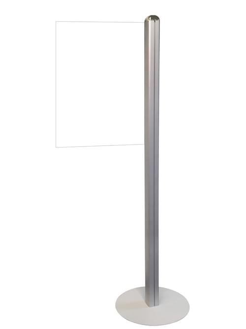 Information Display Stand with Crystal Clear Acrylic Message Sign