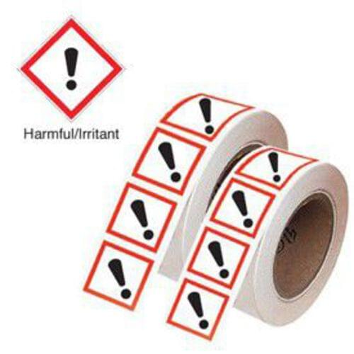 Harmful/Irritant GHS Symbols on a Roll 50x50mm