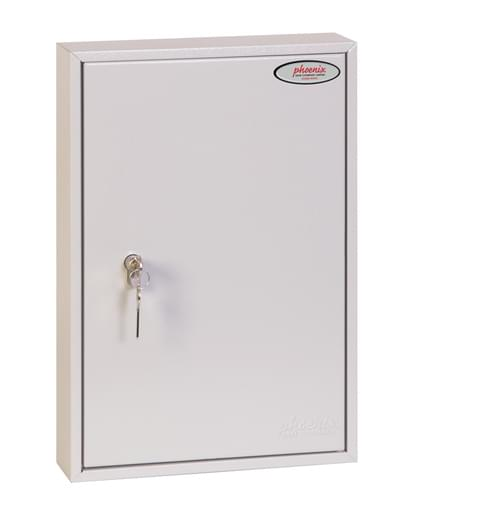 Phoenix Commercial Key Cabinet KC0601P 42 Hook with Euro Cylinder Lock Case