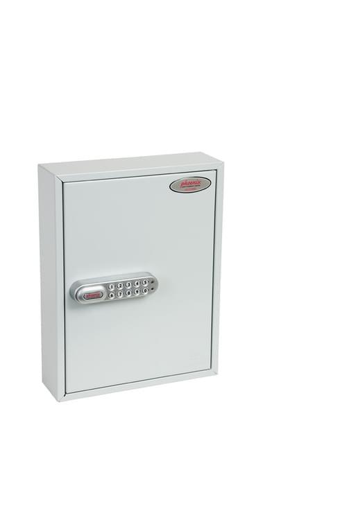 Phoenix Commercial Key Cabinet KC0601S 42 Hook with Electronic Lock & Push Shut Latch.