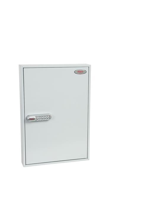 Phoenix Commercial Key Cabinet KC0603S 100 Hook with Electronic Lock & Push Shut Latch.