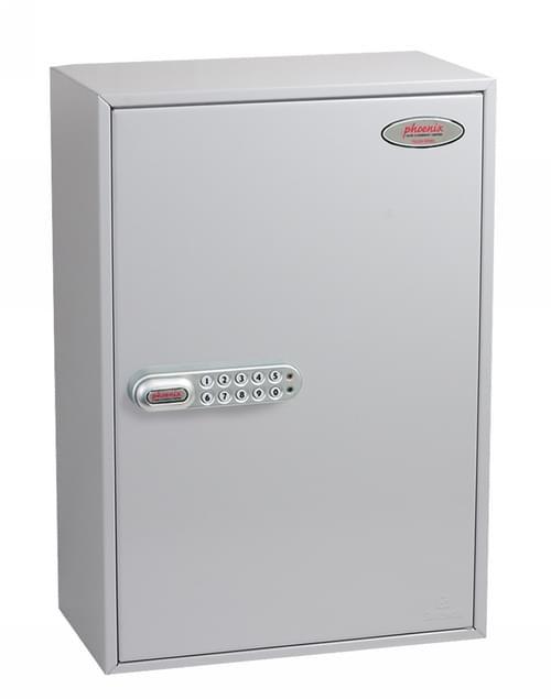Phoenix Commercial Key Cabinet KC0605S 300 Hook with Electronic Lock & Push Shut Latch.