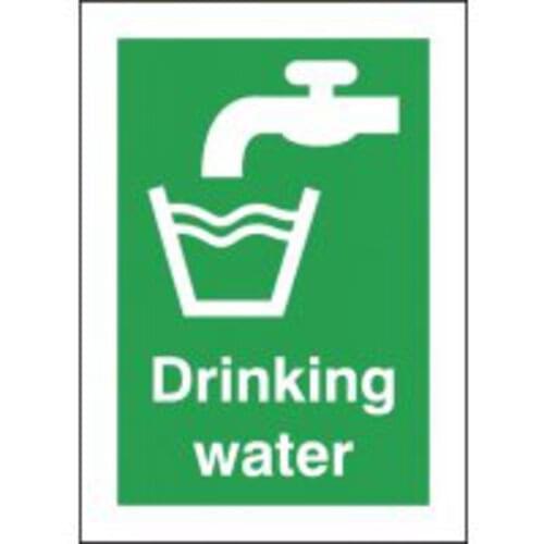 Drinking Water 210x148mm 1.2mm Rigid Plastic