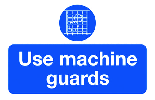 Use Machine Guards 87x135mm Self Adhesive Vinyl (Pack of 6)