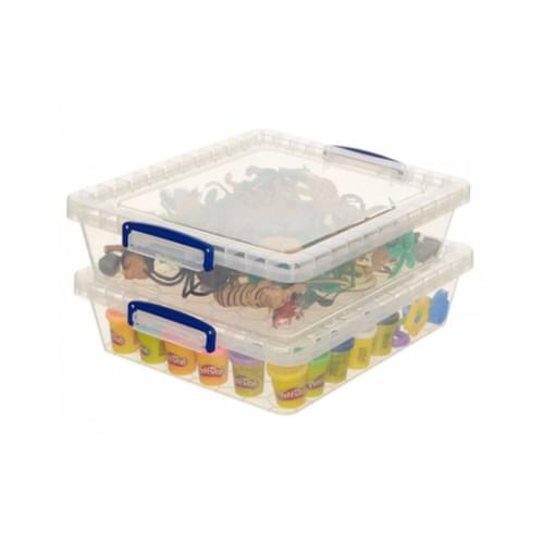 Really Useful Clear Plastic [Nestable] Storage Box 10.5L