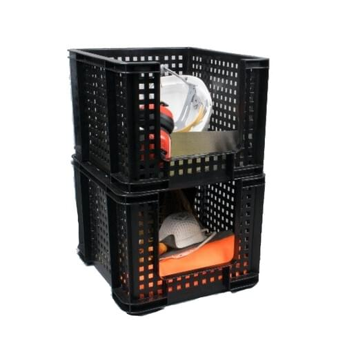 Really Useful Black Open Front Storage Crate 35L