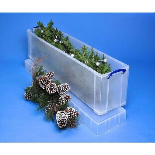Really Useful Clear Plastic Storage Box 77L