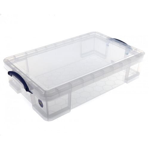 Really Useful Clear Plastic Storage Box 33L