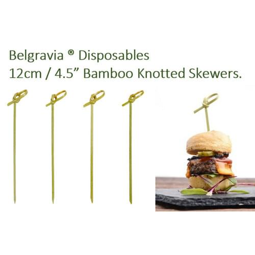 Belgravia Bamboo Knotted Skewers 12cm (Pack of 100)