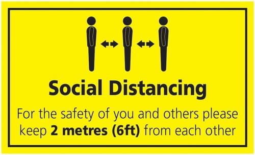 Social Distancing For The Safety Of You And Others Rectangular Floor Sign 300x500mm Self Adhesive Vinyl