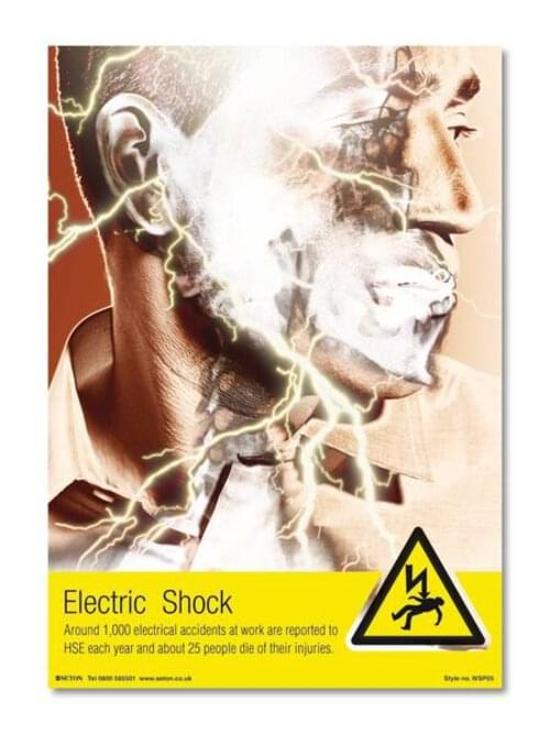 Electric Shock Poster A3