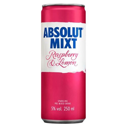 Absolut Raspberri & Lemon 250ml (Case of 12)