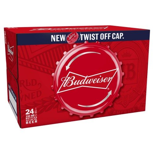 Budweiser Non Returnable Bottle 330ml (Case of 24)
