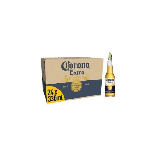 Corona Extra Premium Lager Beer Bottles 24 x 330ml