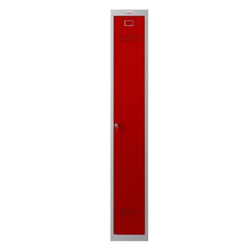 Phoenix CD Series CD1130/4GRK 1 Column 1 Door Clean & Dirty Locker in Red with Key Lock
