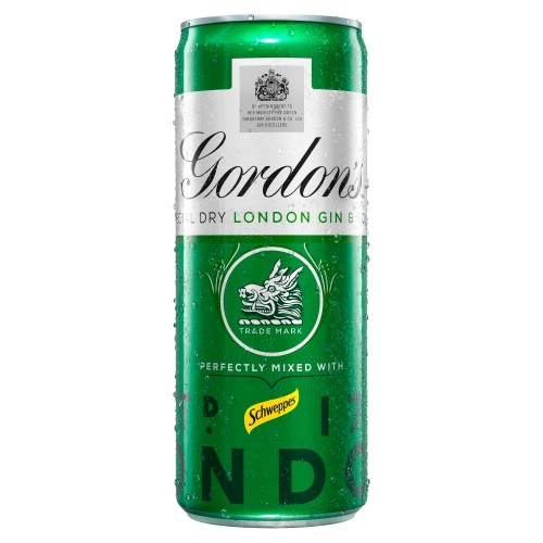Gordons Special Dry Gin & Schweppes Tonic 250ml (Case of 12)