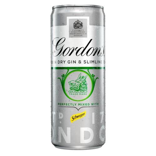 Gordons Gin & Slimline Tonic 250ml (Case of 12)
