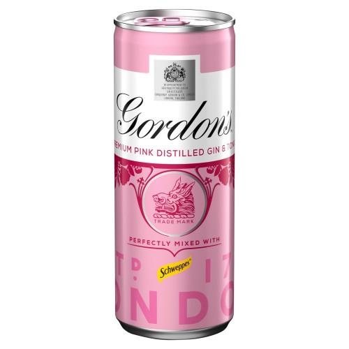 Gordons Pink Gin & Tonic 250ml (Case of 12)
