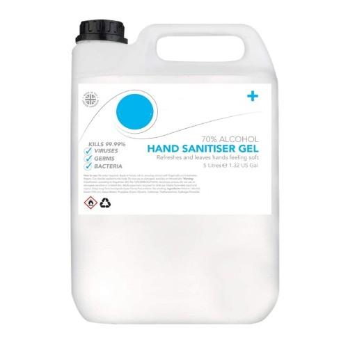 Antibacterial Hand Sanitiser Gel (Minimum 70% Alcohol) 5L