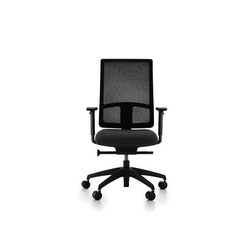 Komac Q Mesh Syncro Operators Chair With Multifunctional Arms Black