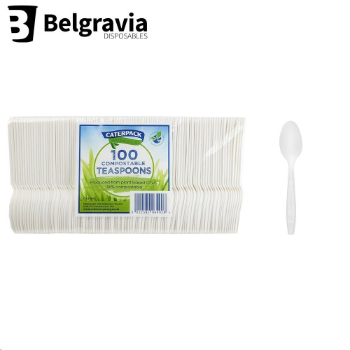 Belgravia Bio Caterpack Teaspoons (Pack of 50)
