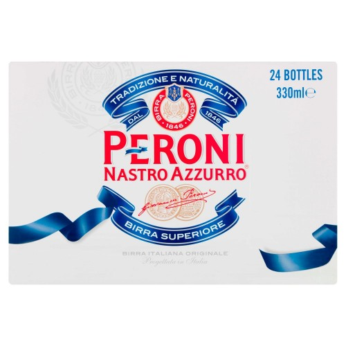 Peroni Nastro Azzurro Italian Lager 330ml (Case of 24)