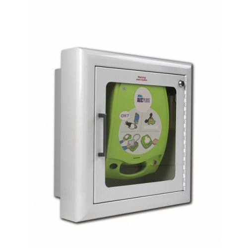 ZOLL AED Plus® Semi-Recessed Wall Cabinet