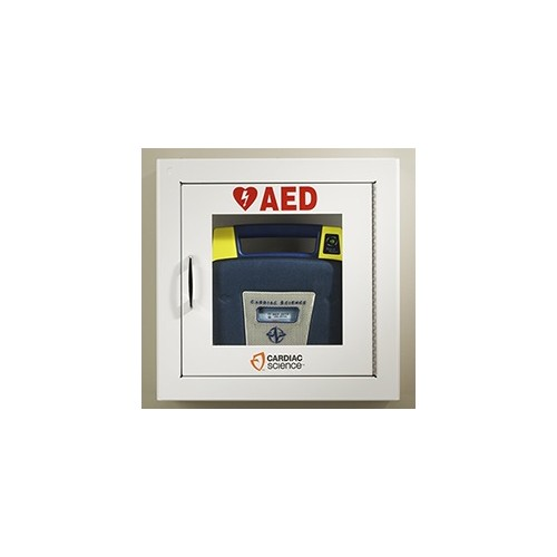 Cardiac Science Powerheart® Surface-Mounted AED Wall Cabinet Security Enabled With Alarm