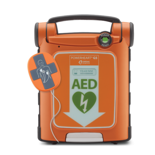 Cardiac Science Powerheart® G5 AED Semi-Automatic Defibrillator with Pads with Intellisense® CPR Device