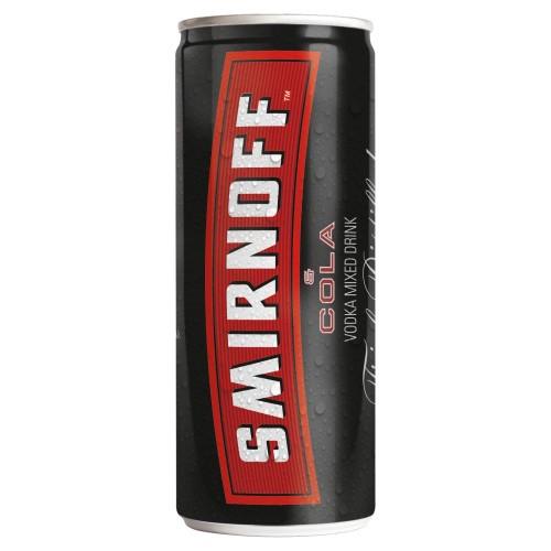 Smirnoff Red Label Vodka & Cola 250ml (Case of 12)
