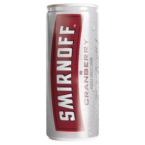 Smirnoff Red Label Vodka & Cranberry 250ml (Case of 12)