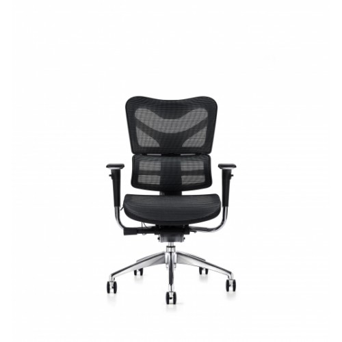 V46 Ergonomic Synchronised Mechanism Black Soft Weave Back & Seat Operators Chair with  3D Adjustable Arms