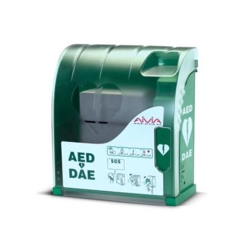 Aivia 100 Indoor Defibrillator Wall Cabinet with Alarm